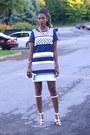 Blue-shift-linen-h-m-dress-white-alexander-wang-sandals