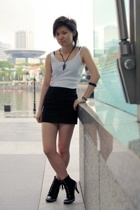 U2 top - UrbanWear skirt - gojanecom shoes - necklace