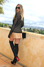Black-suede-louboutins-boots-black-crochet-vtg-sweater