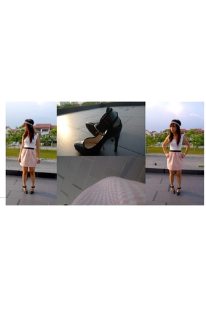 some brand skirt - some brand t-shirt - Charles & Keith shoes - forever 21 acces