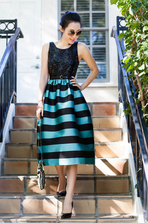 Anthropologie dress - Natasha purse - Via Spiga heels