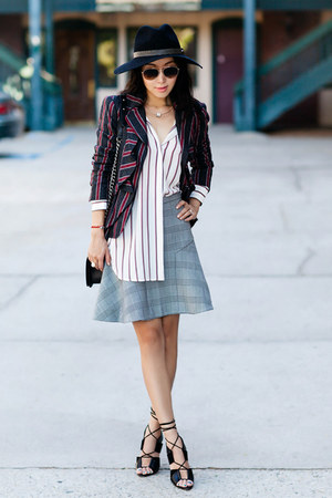 Elizabeth and James shirt - JCrew skirt