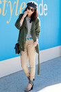 Ralph-lauren-hat-fall-jacket-current-elliott-jacket-jcrew-pants