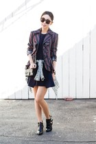 Jeffrey Campbell boots - cameo dress - LAMB blazer