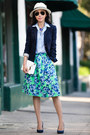 JCrew shirt - JCrew skirt