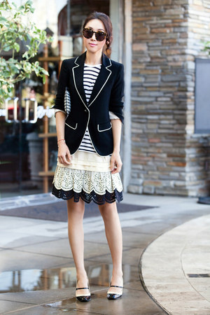 Elizabeth and James blazer - Skaist Taylor skirt - Via Spiga heels