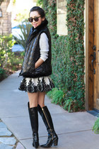 robert rodriguez skirt - Sigerson Morrison boots - Marc by Marc Jacobs sweater