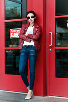 Mango jacket - Current Elliott jeans - Isabel Marant heels