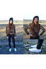 Text-print-madlady-hat-leopard-print-choies-jacket-choies-pants