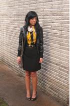 leather jacket + work