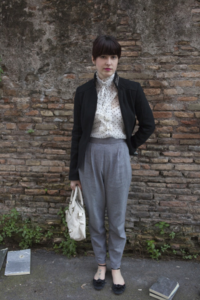 Black Sisley Jackets White Vests Black Urban Outfitters Pants | U0026quot;walking In Romeu0026quot; By Flaminia ...