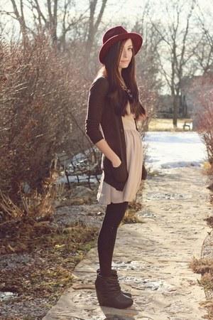 nude Love dress - black romwe wedges