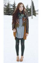 dark green Flattery leggings - light blue 6ks top
