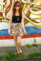 brown Forever 21 skirt - brown Wet Seal shoes