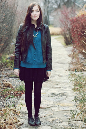 teal miss patina sweater