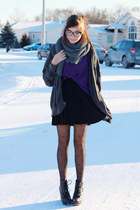 black Club Couture skirt - purple girlfriends material sweater