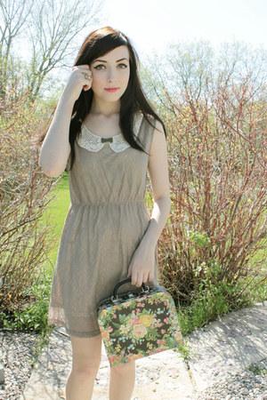 beige miss patina dress