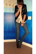 kissme jacket - TJ Maxx top - Cheap Monday jeans - GoJane shoes