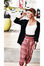 Topshop-hat-new-york-and-company-top-alexandra-noval-pants-h-m-cardigan