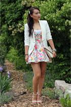Dailylook dress - Zara blazer - Dailylook bag - Zara sandals