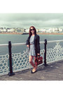 Blue-cat-print-topshop-dress-black-leather-jacket-firetrap-jacket