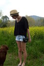 Charlotte-russe-hat-wet-seal-top-vintage-calvin-klein-shorts-old-navy-shoe