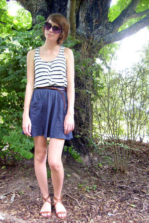 white Forever 21 shirt - brown J Crew shoes - brown Urban Outfitters belt