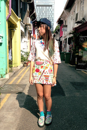 Sweet Drug skirt - Underground X Fam Irvoll shoes - Modparade hat