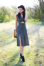 Black-suede-river-island-boots-miss-selfridge-dress-black-bowler-vintage-hat