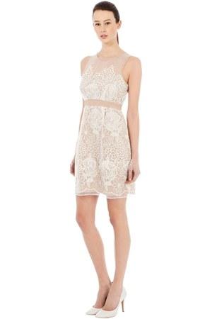 neutral lace dress Flydoll dress