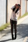 Black-lace-up-steve-madden-boots-green-tartan-harajuku-mini-for-target-pants