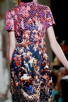 bubble gum digital print PROENZA SCHOULER dress