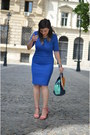 Blue-atmosphere-dress-pink-shelikes-sandals-aquamarine-meli-melo-necklace