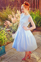 sky blue asos dress