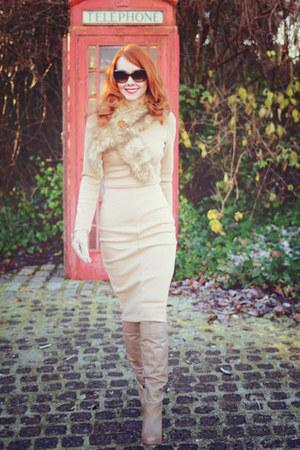 neutral sam edelman boots - neutral pencil robert rodriguez dress