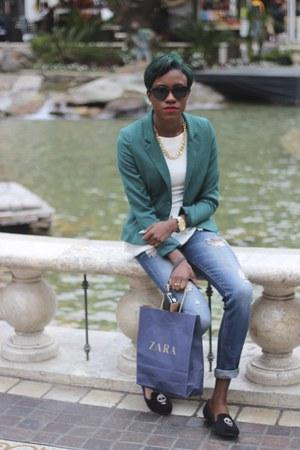 H&M blazer - Zara flats