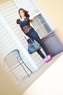 Jc-penny-jeans-mimi-boutique-bag-forever21-blouse-fushia-shoeglamm-pumps