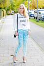 Light-blue-flower-h-m-jeans-white-lace-spitfire-sweater