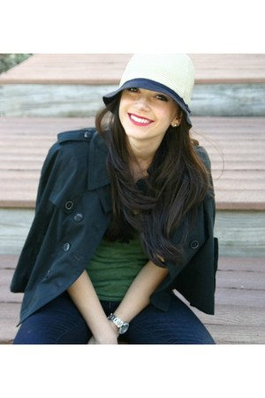 Jigsaw London cape - Levis jeans - JCrew hat - Victorias Secret shirt