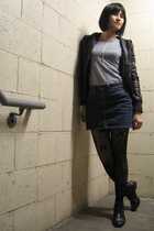 Michael Kors jacket - Love YaYa top - Gap skirt - House of Holland x Pretty Poll