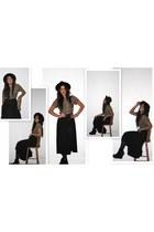 leather belt Zara skirt