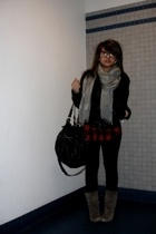 American Apparel glasses - American Eagle scarf - H&M jacket - Forever21 shirt -