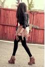 Black-jacket-black-leggings-gold-ashish-for-topshop-boots-red-ebay-scarf-