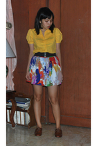 Plains and Prints blouse - forever 21 skirt - Steve Madden shoes