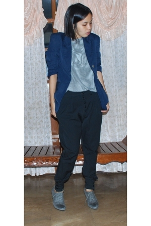 Topman shirt - thrifted blazer - Zara pants - Zara oxford shoes