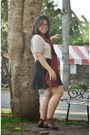 Ruby-red-pull-bear-scarf-black-cotton-on-skirt-silver-forever-21-top
