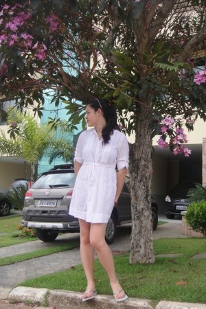 white luigi bertolli dress - white Havaianas sandals