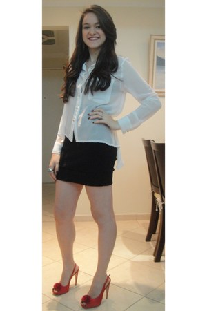 shirt - HBF skirt - my shoes heels