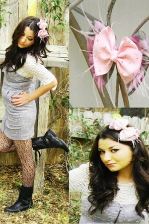 Urban Outfitters dress - bow Gabrielle DeLaGarza accessories