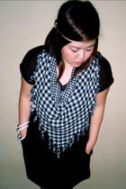 accessories - scarf - dress - bracelet - shoes